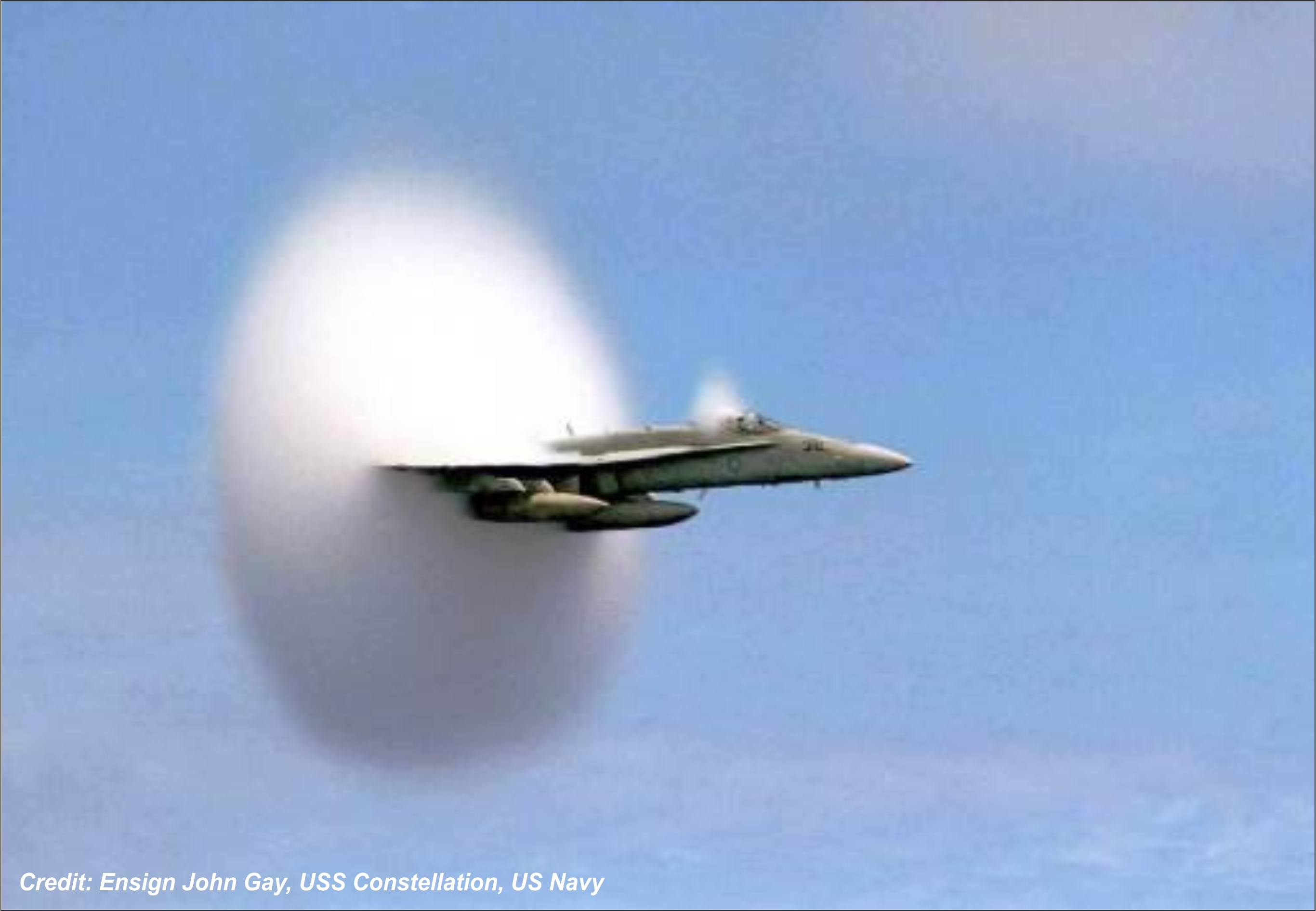 The moment a sonic boom occurs. CLICK FOR A LARGER VERSION.