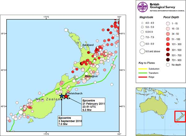 Christchurch New Zealand Earthquake | Magnitude 6.3 | 21 Feb 2011 ...