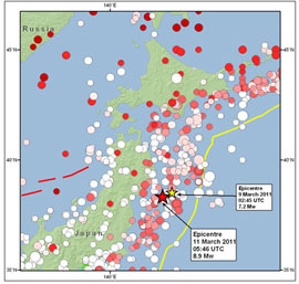 Historical and instrumental seismicity of northern Honshu, Japan, since 715 A.D. (magnitudes 6.5 and greater)