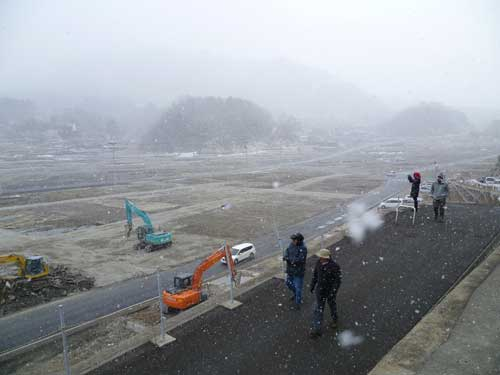 Onegawa Town, northern Honshu in the winter of 2012. The town here was almost completely destroyed by the tsunami.