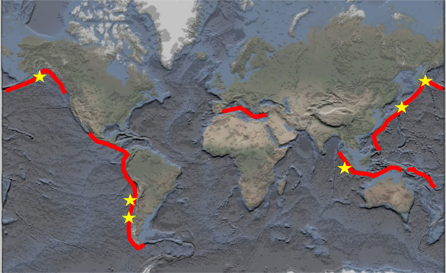 Convergent margins and great earthquakes.