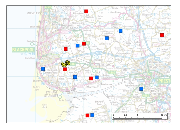 Map of seismicity detected at Preston New Road